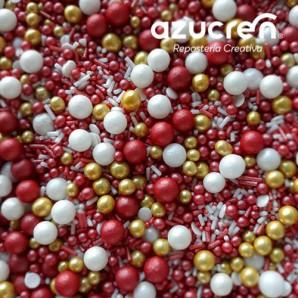 Perlas de azúcar plateadas