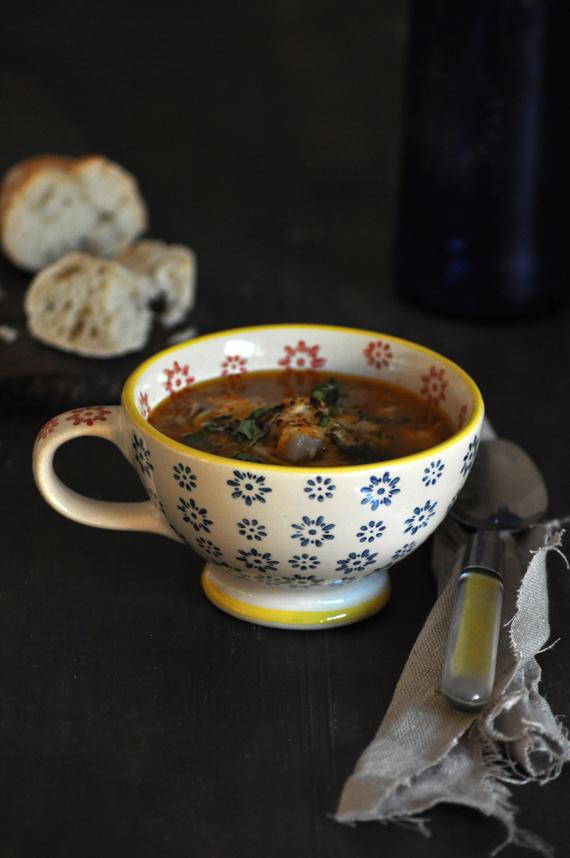 sopa minestrone con garbanzos