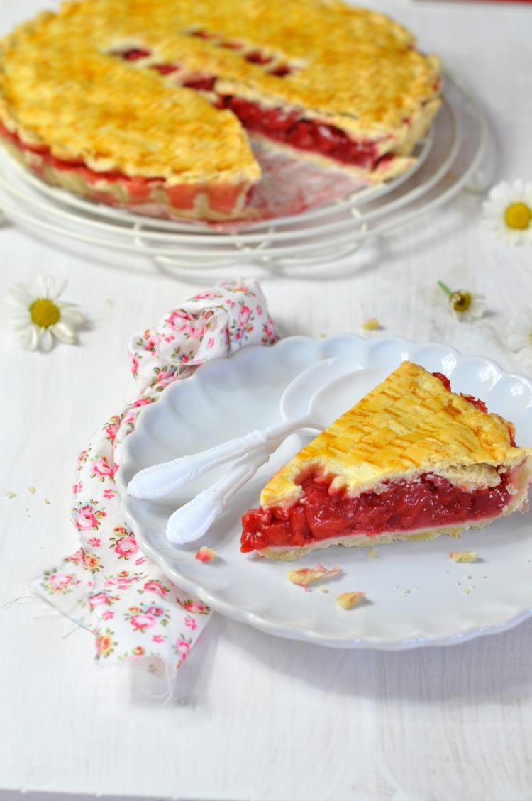 pastel de fresas casero