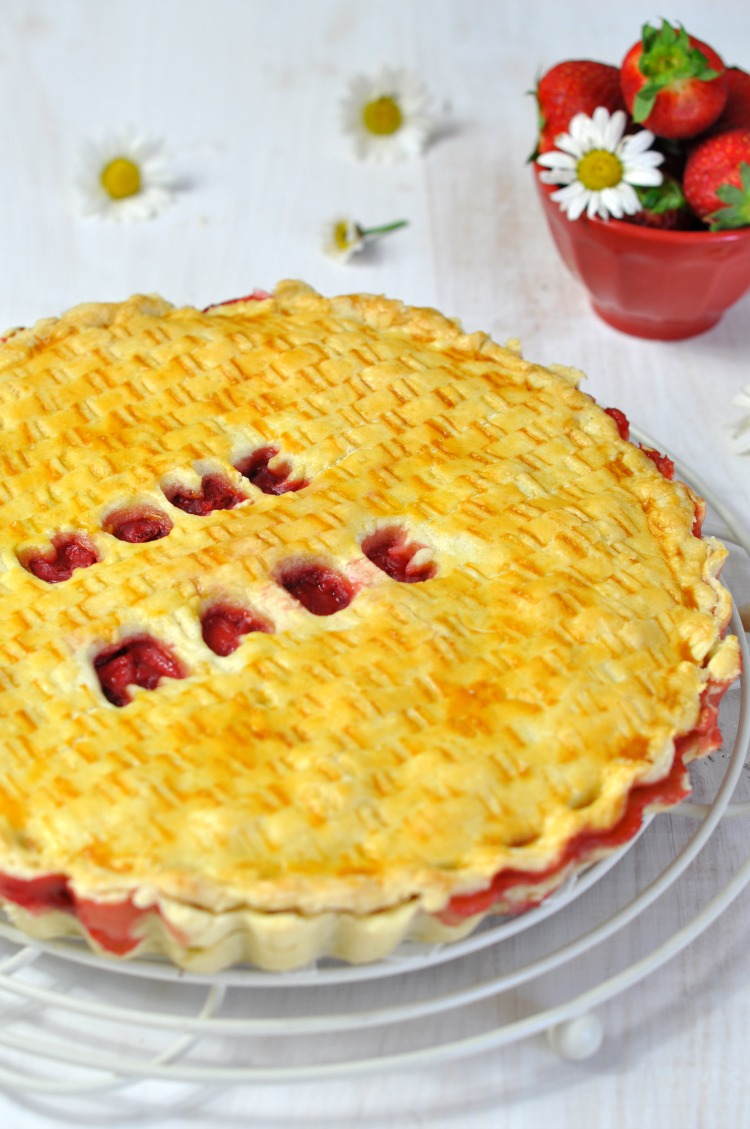pastel de fresas strawberry pie