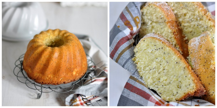 collage bundt cake naranja