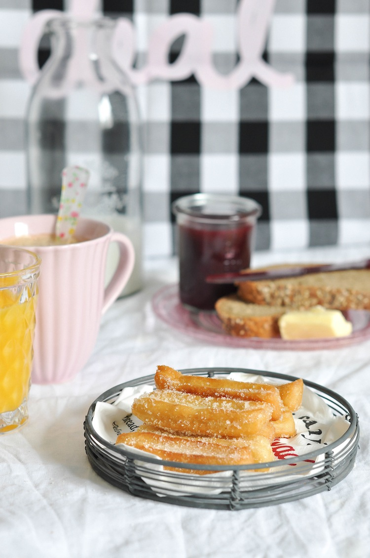 churros caseros para desayunar
