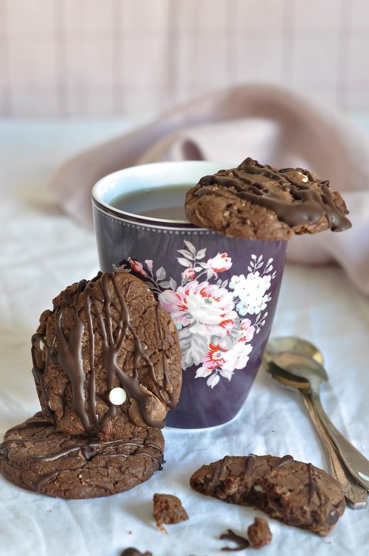 cookies de doble chocolate y malta