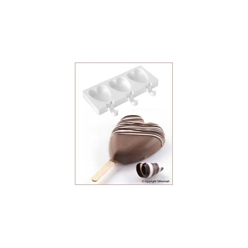 Molde helado mini hearts