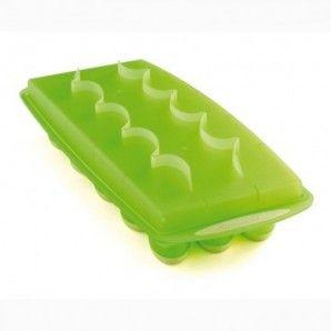 Molde hielo oval verde