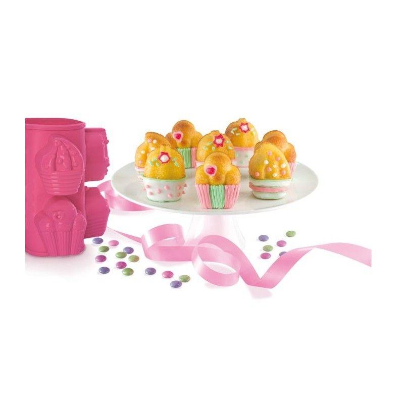 Molde de silicona con forma de cupcakes - Moldes cupcakes silicona ...