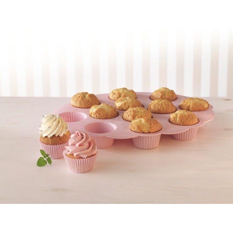 Molde bandeja de silicona para cupcakes - Moldes cupcakes silicona ...