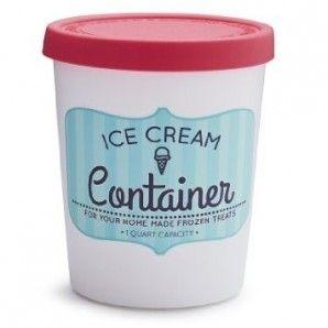 Contenedor de helado cilíndrico
