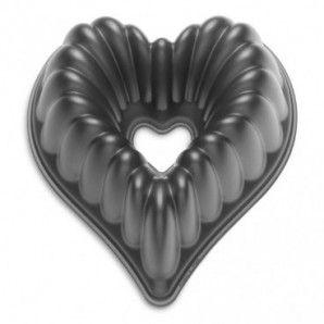 Molde bundt corazón Nordic Ware