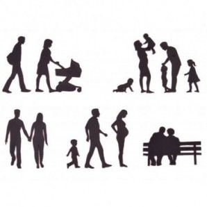 Patchwork siluetas de familia