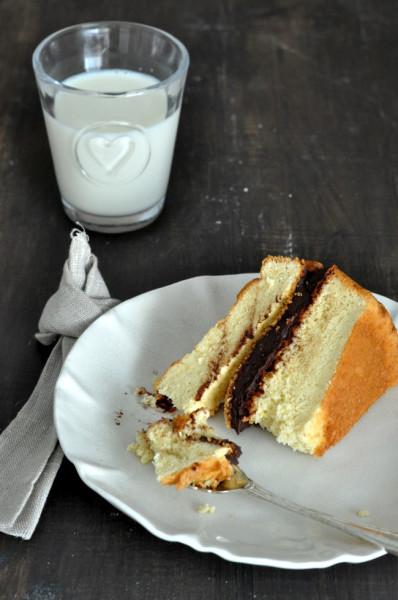 tarta galleta principe de chocolate porción bizcocho