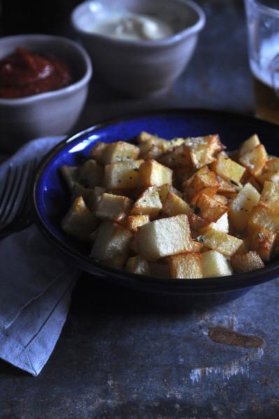 patatas bravas sin salsa receta