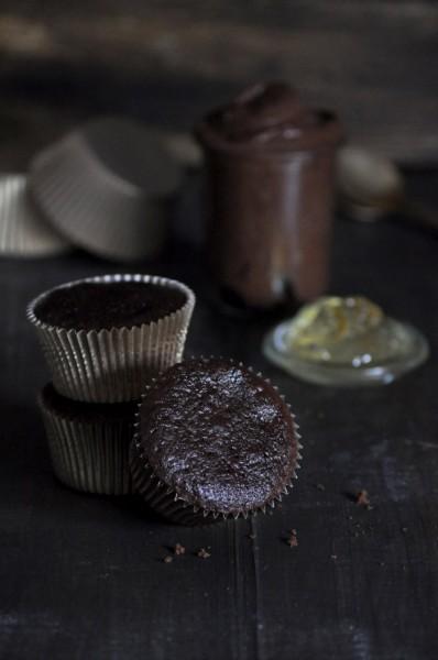 cupcakes de chocolate y mermelada ing