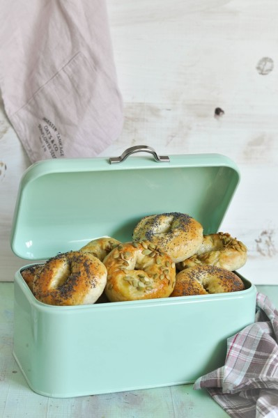 bagels de amapola en panera vintage