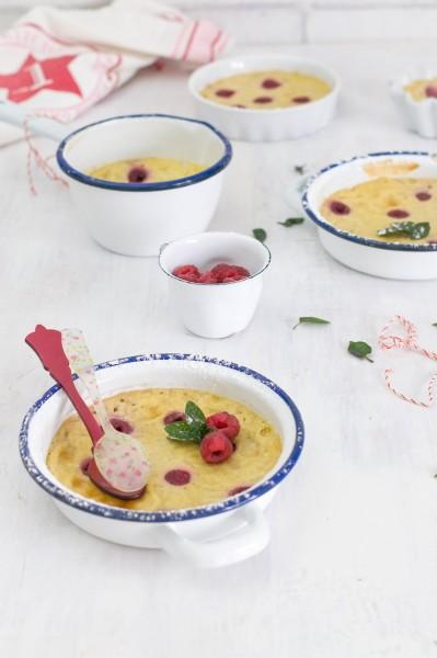 natillas horneadas con frambuesa y limon