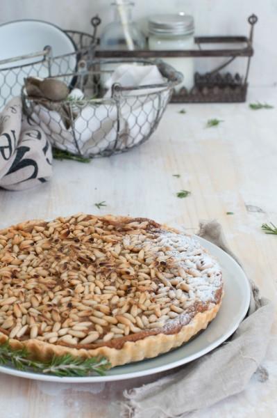 tarta de boniato y piñones