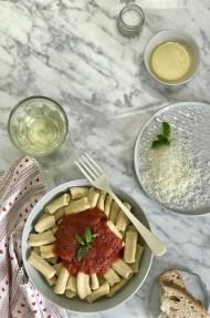 Pasta casera: Rigattoni al pomodoro