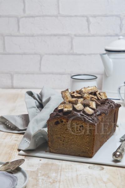 banana bread con manteca de cacahuete