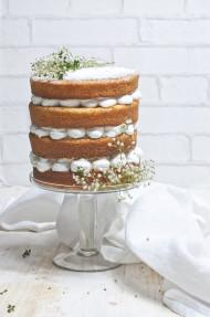 Tarta de limón y flor de sauco (Edelflower and lemon cake)
