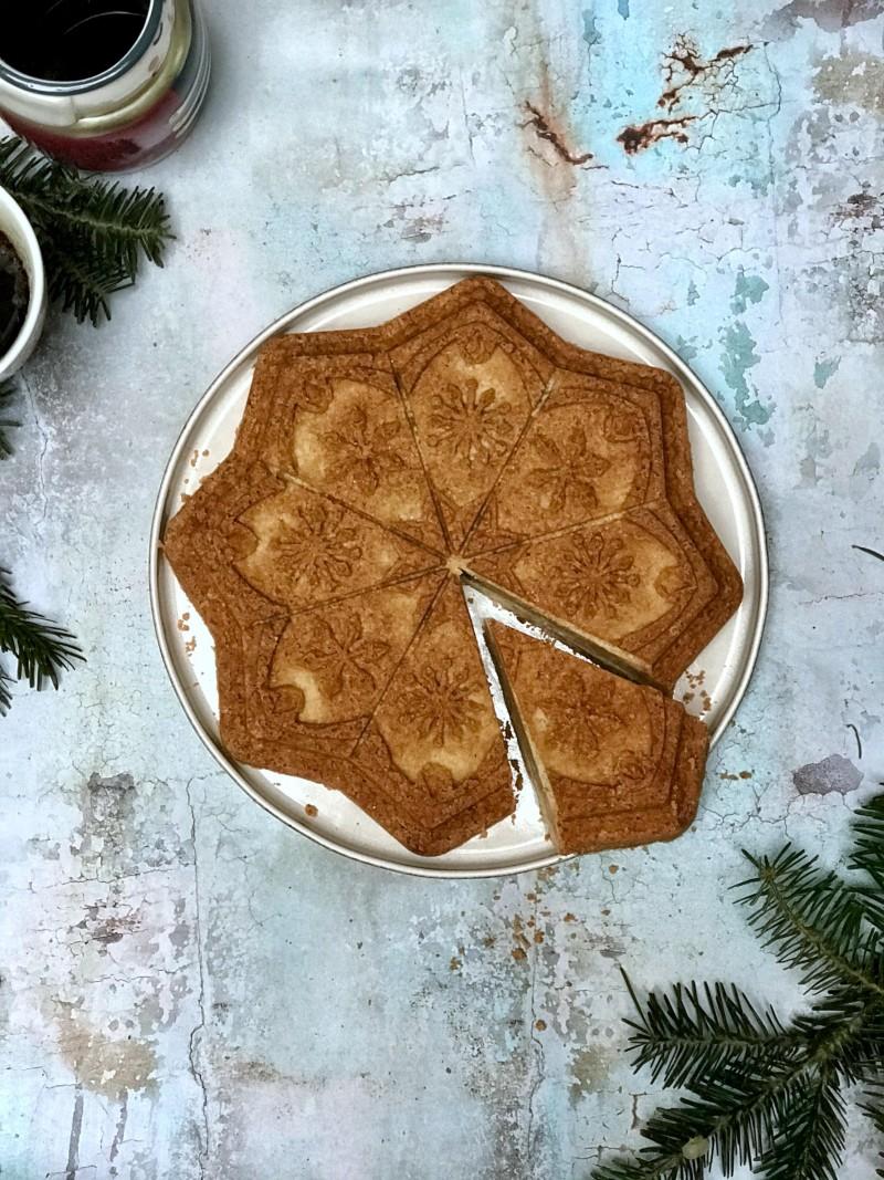galleta shortbread en molde nordic ware