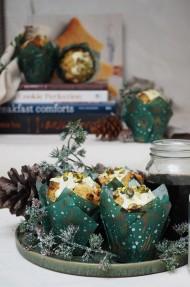 Muffins de pistacho y chocolate blanco