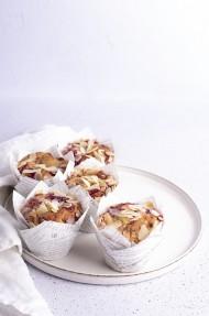 Muffins de fresas y almendras